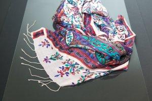 Écharpe en laine multicolore cachemire