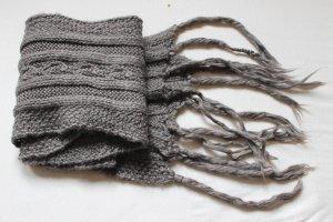 H&M L.O.G.G. Bufanda de flecos gris oscuro