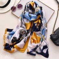 Zijden sjaal veelkleurig Polyester