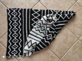 Gebreide sjaal wit-zwart