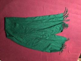 Bufanda de ganchillo verde oscuro-verde bosque