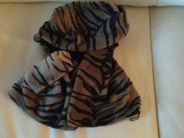Woolen Scarf light brown-dark brown