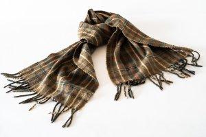 keine Fringed Scarf multicolored angora wool