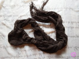 Crochet Scarf dark brown