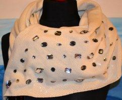Gebreide sjaal wolwit