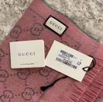 Gucci Woolen Scarf light grey-dusky pink