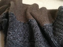 Cavalli Knitted Scarf grey brown-dark grey wool