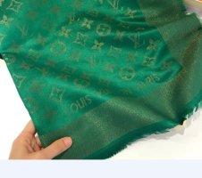 Louis Vuitton Szalik z frędzlami zielony