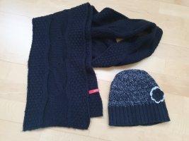 Esprit Bufanda de lana negro-gris