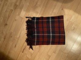 H&M Basic Woolen Scarf dark blue-bordeaux
