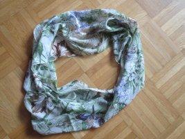 Tchibo / TCM Écharpe d'été vert-mauve