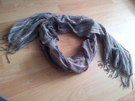 Schal Tuch Halstuch bunt mit Fransen Streifen