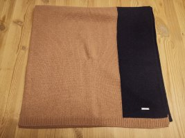 Joop! Bufanda de lana marrón claro-azul oscuro