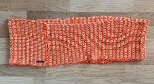 Pieces Crochet Scarf cream-neon pink