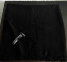 Zara Bufanda de flecos negro tejido mezclado
