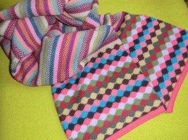 Cacharel Écharpe en tricot multicolore laine