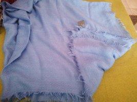 Écharpe à franges bleu azur