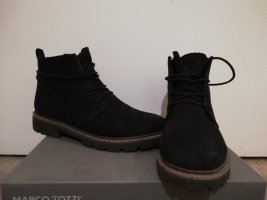 Marco Tozzi Aanrijg laarzen zwart