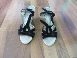 Marco Tozzi Sandały plażowe czarny-kremowy