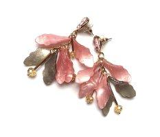 Schicke Boho Ohrringe Acryl Blüten Funkeln