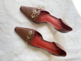 Antonio Melani Pointed Toe Pumps cognac-coloured leather
