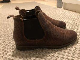 Schicke Chelsea Boots - Schlangenlederoptik