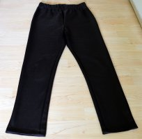 Kim & Co Faux Leather Trousers brown red polyester