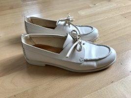 Schicke, minimalistische Chloé Loafers Mokassins weiß aus Leder Gr. 38