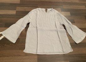 Opus Long Sleeve Blouse white-azure