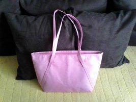 Schicke rosa Shoppertasche mit Futter aus Jute