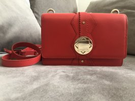 Schicke rote Umhängetasche/Clutch aus Leder von Liebeskind