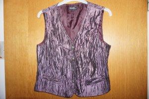 Brunetti Gilet matelassé gris violet-violet foncé