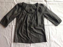 Schicke Silber-graue Baumwoll-Bluse