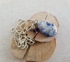 Boutique Ware Chaîne en argent argenté-bleu azur