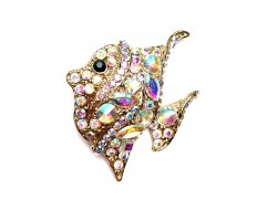 Brooch gold-colored-white