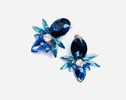 Schicke Stecker Vintagestil Blaue Funkeln Extrem