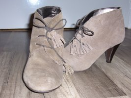 Booties sand brown leather