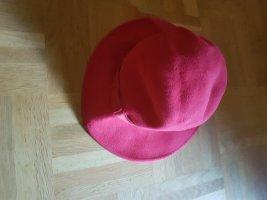 Vilten hoed rood