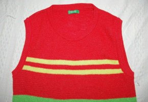 Benetton Fine Knitted Cardigan multicolored polyacrylic