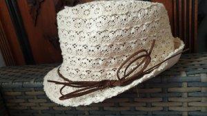 Schicker Hut mit Band in Beige braun * ungetragen