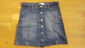 Gina Tricot Jeansowa spódnica stalowy niebieski