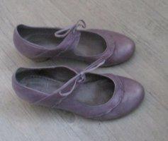 Tamaris Lace-up Pumps mauve-purple leather