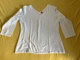 Esprit Sweter z krótkim rękawem biały