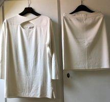 Schicker Weiß/Creme farbener Zweiteiler Pullover und Rock von Via Appia