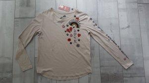 Schickes Langarm Shirt beige, Gr. 40 mit tollen Details von Princess goes Hollywood♥️ Neuware