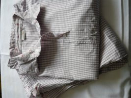 Schiesser Pijama blanco puro-marrón grisáceo Algodón