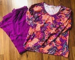 Schlafanzug Gr. 40/42 neu gemustert lila