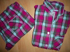Pyjama magenta-turkoois Katoen
