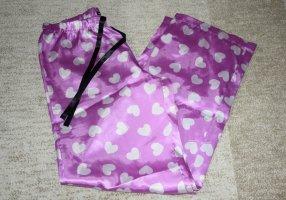 Pijama blanco-rosa neón Poliéster