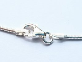 Schlangenkette Silber 925er Kette Sterlingsilber Silberkette 1,2mm - 38cm NEU